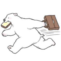Running Bear-y Late Running Bear, Bear Illustration, Superbat, Logo Inspiration, Polar Bear, Swimming, Wallpaper, Logos, Artist