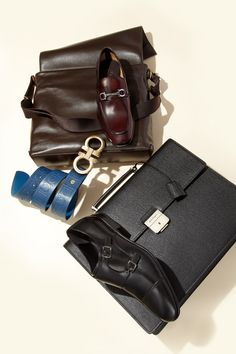 Go to work with luxe new accessories from Salvatore Ferragmo.