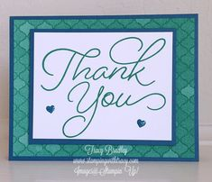 Thank You card for March customers made with So Very Much stamp set, a Sale-A-Bration item. Make Your Own Card, Card Sketches, Cute Cards, Greeting Cards Handmade, Scrapbook Cards, Homemade Cards, Stampin Up Cards, Cool Things To Make, Your Cards