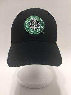 Starbucks Coffee Mermaid Retro Barista Baseball Cap Hat Black Adj Strapback #Starbucks #BaseballCap