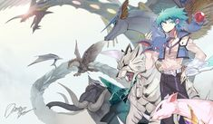 Yu-Gi-Oh!: Andersen, Rainbow Dragon, Amber Mammoth, Cobalt Eagle, Topaz Tiger, Sapphire Pegasus, Ruby Carbuncle, Emerald Tortoise, and Amethyst Cat