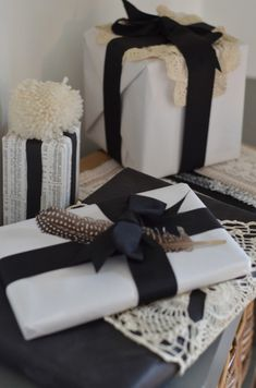 Beautiful, simple wrapping from The Nester