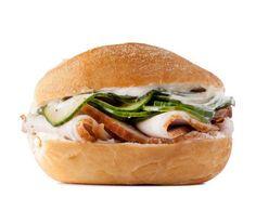 Roast Pork and Pickled Cucumber Sandwich