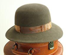 Wool Felt Hat- Men- Women- Fall Fashion- Winter Accessories. $128.00, via Etsy.
