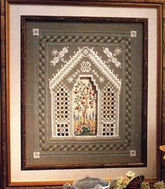 Romantic Gazebo Hardanger - i don't believe it! i am busy with this exact embroidery right now!  what a small world it has become!