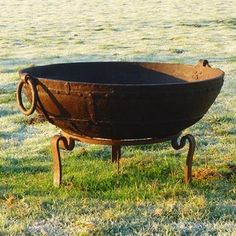 Kadai Fire Bowls - saw at Ideal Home Show Nov 2012, can this be incorporated into hydraulic square shape?