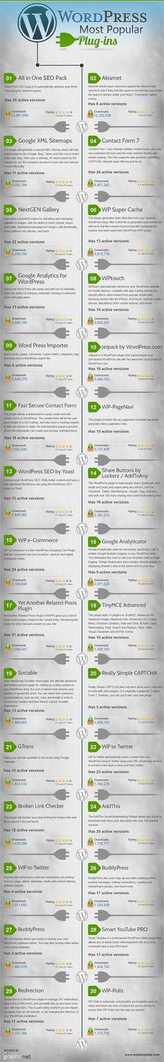 Most Popular WordPress Plugins [Infographic]   Bussines Improvement and Social media   Scoop.it http://itz-my.com