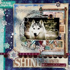 Scrapperlicious: Shine In Winter layout by Irene Tan using BoBunny Altitude collection.
