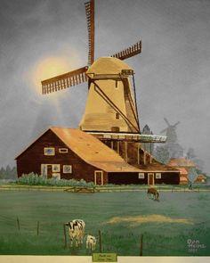 Good memory, nice vintage artwork.  The warm light is nice against the grey sky.
