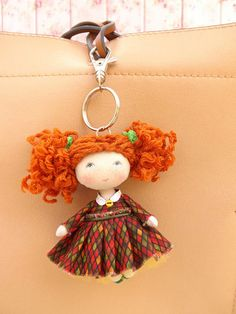 Best 12 Car mirror or handbag charm keychain miniature rag doll, cute keychains tiny fabric doll, cute mini OOAK cloth art pocket doll gift for girl Miniature doll in. Fun gift for a girl 3 to 99 years! Ready to ship You can decorate your bag or satc Dollhouse Dolls, Miniature Dolls, Homemade Dolls, Cute Keychain, Doll Painting, Halloween Patterns, Car Mirror, Fairy Dolls, Felt Dolls