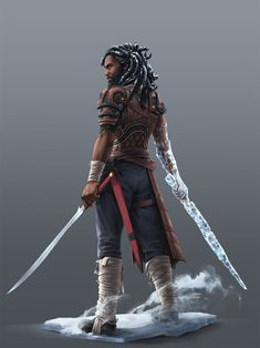 Character Inspiration Men of Color In Fantasy Art Male Character, Fantasy Character Design, Character Portraits, Character Creation, Character Design Inspiration, Character Concept, Concept Art, Character Ideas, Black Anime Characters