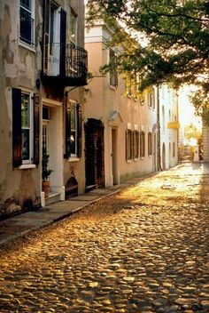 The cobble streets of Charleston South Carolina