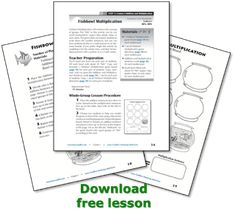 Free Fishbowl Multiplication lesson from the NEW Mastering Math Facts Multiplication and Division: Aligned with the Common Core