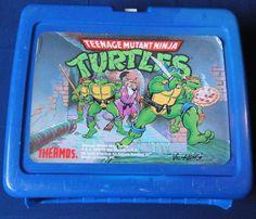 Teenage Mutant Ninja Turtles Plastic Lunch Box 1989 Vintage, No Thermos