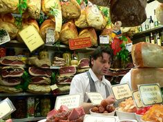 Another shop in the Food Market in Florence, Italy.  I bought parmesan and salami.