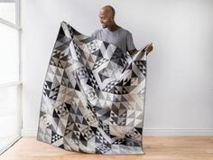 Modern Technology Solids Earl Grey Expand-A-Quilt Kit