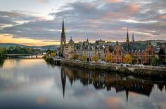 Perth, Scotland aglow
