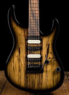 Suhr Modern Custom Black Limba / Basswood - Black Burst | NStuffmusic.com