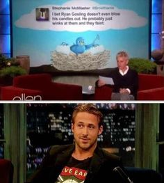 I don't know why I laughed at this for 5 minutes straight...oh yeah, it's because it's Ryan Gosling ♥♥