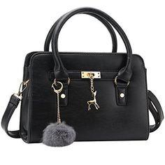 50% OFF SALE PRICE - $23.99 - Bagerly Women Fashion PU Leather Shoulder Bags Top-Handle Handbag Tote Bag Purse Crossbody Bag