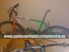 Mountain Bike que quiere ser fixie . Propiedad de componentes bicicleta baratos en Zaragoza.