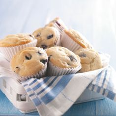 Kids' Favorite Blueberry Muffins Recipe from Taste of Home -- shared by Lisa Allen of Joppa, Alabama