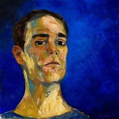 quick 45min selfportrait on a mirror playing with the colors - oil on wood pannel - 25x25cm  #artoftheday #art #contemporaryrealism #figure #figureativeart #fineart #sketchbook #doodle #oilpainting #instaart #instaartist #contemporaryart #traditional #realism #brushstrokes #portrait #portraitpainting #lifemodel #blue #expressionism  made in #Toulouse  with enthousiasm