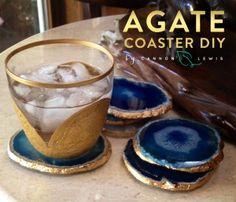 Cannon Lewis Agate Coaster-DIY