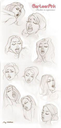 Cartoon OOHH Face