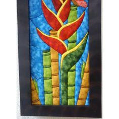 Cuadros En Patchwork Sin Agujas Heliconia $ 190000.0 Paper Pieced Quilt Patterns, Patch Aplique, Quilting, Quilt Blocks, Diy And Crafts, Projects To Try, Patches, Fika, Barbacoa