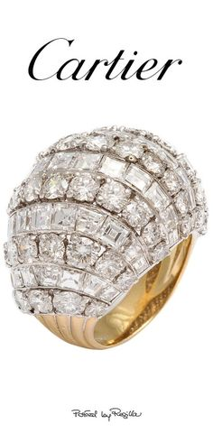 Diamond Cocktail Ring set in Yellow Gold