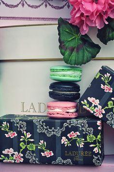 Ladurée in Paris.   Oooh yummy and beautiful packaging.
