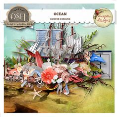 Ocean kit by xuxper designs - $2.78 : Digital Scrapbooking Hill | DSH - commercial and personal use site