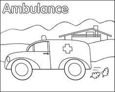 awesome ambulance coloring pages print photos - printable coloring ... - Ambulance Coloring Pages Print