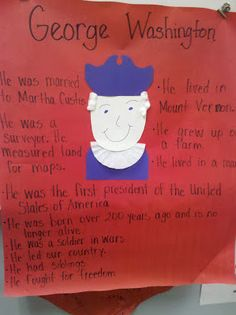 President's Day- George Washington Anchor Chart