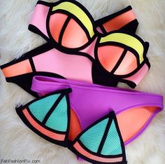 Pinterest: @Mer_Elise • Colorful Triangl swimwear 2015 collection. #triangl