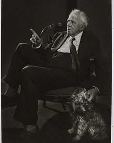 Poems by Robert Frost, born #OnThisDay in 1874, capture the best of New England. Here, the four-time Pulitzer Prize winner is commemorated in a 1958 portrait by Yousuf Karsh. #photography