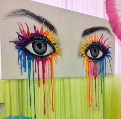 Figure Drawing, Painting & Drawing, Art Amour, Art Diy, Online Drawing, Online Painting, Melting Crayons, Arte Pop, Eye Art