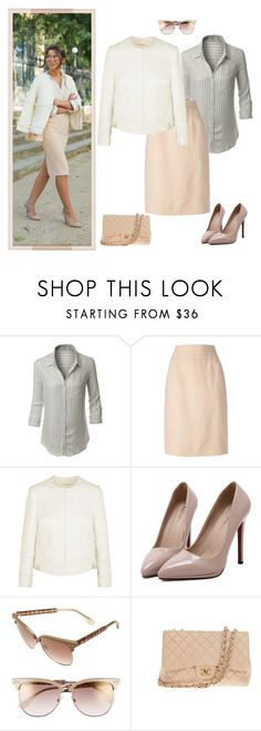 """Untitled #1226"" by ruru833 ❤ liked on Polyvore featuring LE3NO, Chanel, Giambattista Valli, WithChic and Jimmy Choo"
