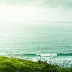 Seascape, shot in New Zealand.    I imagine Ireland is this green and beautiful, and that makes me want to visit!