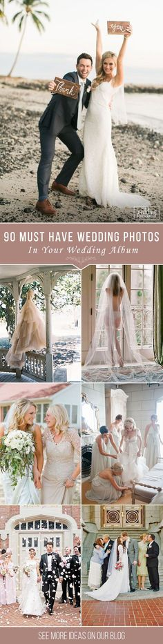 Must Have Wedding Photos In Your Album ❤ Funny, beautiful, charming, touching moments. Take a look of wedding photos we collected for you from all over the Pinterest to help organize the best ideas. See more: http://www.weddingforward.com/wedding-photos-album/ ‎#wedding #photography
