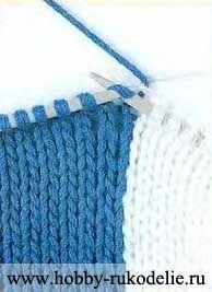 Хобби (рукоделие своими руками): вышивка, вязание » Архив блога » Вязание спицами полос разных цветов