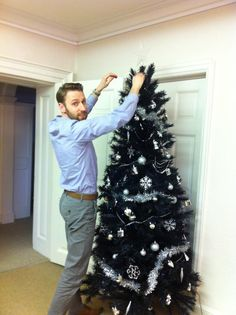 Steve's just adding the finishing touches to our Christmas tree