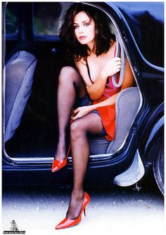 photo of Emmanuelle Béart  - car