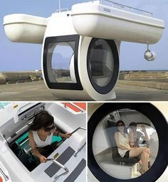 Looks like a pontoon boat with an under water viewing cabin. Like a glass bottom boat maybe? #pontoonsub #boating
