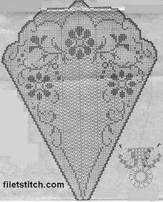 Kira scheme crochet: Scheme crochet no. Annie's Crochet, Crochet Doily Diagram, Filet Crochet Charts, Fillet Crochet, Crochet Doily Patterns, Crochet Round, Crochet Home, Thread Crochet, Crochet Designs