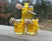 Wedding Honey Favors Yellow, Bridal Shower Favors, Party Favors,  24 Jars Filled FRESH & Safety Sealed