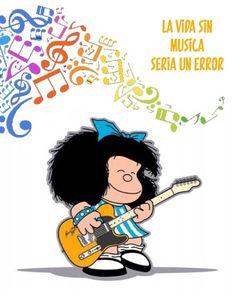 Mafalda, guitarra, la vida sin musica