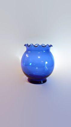 Cobalt Blue Globe Vase by SamsOldiesButGoodies on Etsy