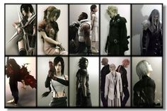 Characters from Final Fantasy VII - Desktop Nexus Wallpapers Final Fantasy Vii Remake, Final Fantasy Cloud, Final Fantasy Characters, Fantasy Series, Video Game Characters, Fantasy Art, Cloud And Tifa, Cloud Strife, Vincent Valentine